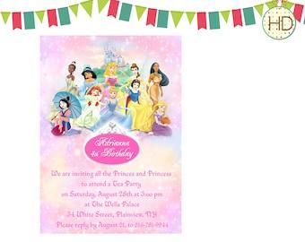 Princess Invitation, Disney Princess Invitation, Princess Birthday Party