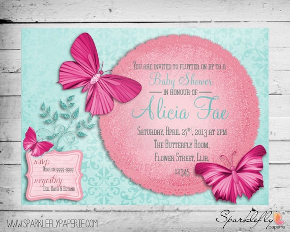 butterfly themed bridal shower baby shower birthday party