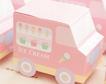 Ice Cream Party / Ice Cream Social / Favour Ice Cream Truck Boxes