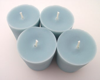 4 Soy Votive Candles - Fresh Linen, Wedding, Housewarming, Shower Favor, Gift Under 10