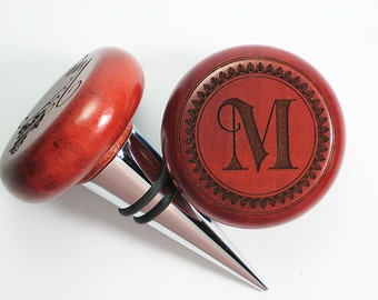 Monogram Rosewood Wine Stopper - Bold