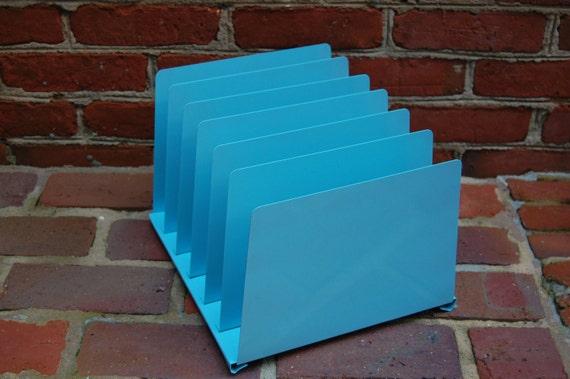 Vintage tanker desk paper organizer vintage blue tanker - Paper organizer for desk ...