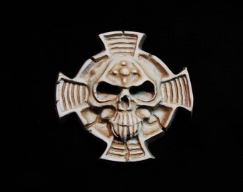 Warhammer 40K TERMINATOR Symbol Badge  **Can be painted any Color Scheme you choose **Upgrade to Pin Badge, Pendant, Zip Puller -or- Magnet