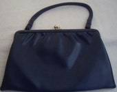 SALE Vintage 'My Lady Model' 1960S Navy handbag