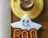 Ghost Boo Door Knob Hanger Needlepoint Plastic Canvas