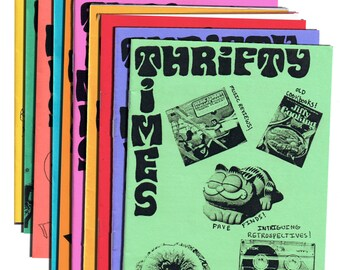 Thrifty Times - Issues 1-15 Gift Pack - A Zine about Thrifting