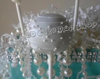 Wedding Cake Pops - Bridal Shower - Wedding - Birthday - White on White - Edible Favor