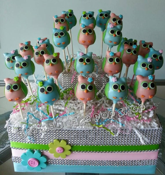 Owl Cake Pops Etsy