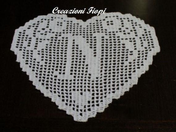 pattern crochet heartmonogram letter n filet