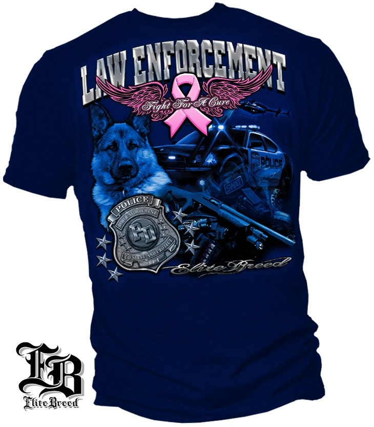Law Enforcement Fight For A Cure Breast Cancer By Rescuetees