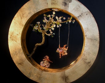 "Handmade Ceiling Light.Ceiling Lamp.""Circle Dream"""