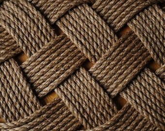 Nautical Rope Rug - Manila Front Door Mat - Nautical Decor - (33 x 20) - Rope Rug