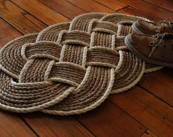 Nautical Rope Rug - Manila Rope Mat - Rope Rug - Sisal - Manila - Front Door Rug - (32 x 20)