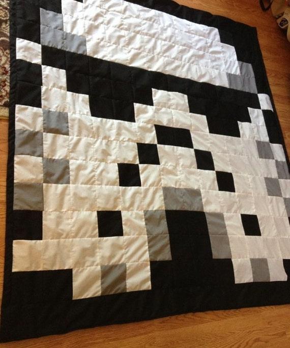 Items similar to Star Wars Stormtrooper Pixel Geek Quilt Blanket Handmade Gift on Etsy