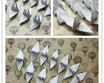 "100 Pure White Origami Paper Cranes Crafts Paper Goods Pure Love 8x8cm 3"" Origami Crane for Wedding Home Decoration"
