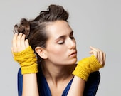 Fingerless gloves, Hand knitted gloves,  Wristlets