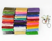 33Colors Rainbow Polymer Clay/Fimo Clay/Clay Mud DIY Materials for Polymer Clay Crafts for Jewelry Decor Phone Decor 1set