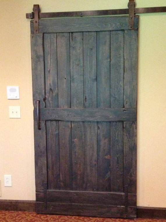 Vintage sliding Barn Door Custom made to fit your by GoodfromWood