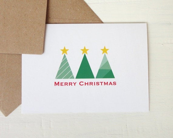 items similar to christmas card xmas card modern greeting
