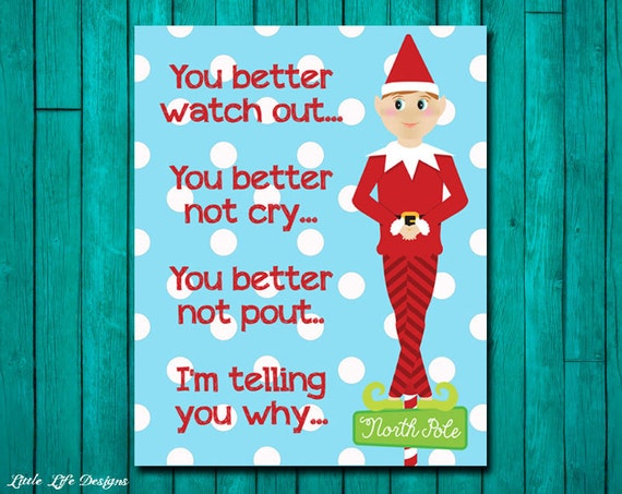 Christmas Grinch Quote 8 X 10 Digital Print Instant By: Santa Claus Is Coming To Town Christmas By LittleLifeDesigns