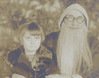 Jolly 1920's Department Store Santa Claus Real Photo Postcard - Free Shipping