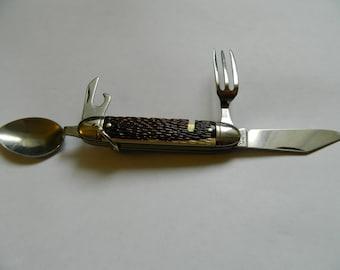 Vintage Colonial USA Hobo Camping Knife Set