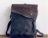 gray canvas backpack, backpack , leather ,travelbags , clutch bag ,Student Canvas Backpack ,Leisure Packs