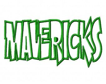 Mavericks Text Applique Designs N099
