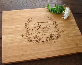Personalized Cutting Board Cheese Board Wedding Present Housewarming Hostess Gift Christmas Present Holiday Entertainment Decoration