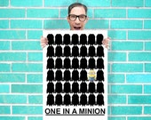 One in a Minion Despicable me Minions Dave Art - Wall Art Print / Poster 16x23 Inch - Kids Children Bedroom Geekery
