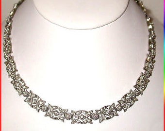 VICTORIAN 5.55ct Rose Cut Diamond  Wedding Necklace, Free Shipping World Wide