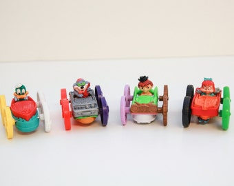 Vintage Tiny Toons flip cars set of 4 McDonald's 1990