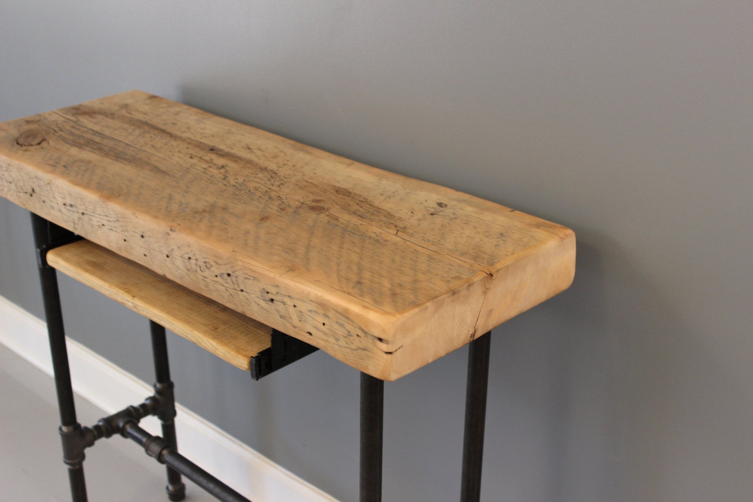 Small Urban Wood Laptop / Computer Desk Reclaimed by DendroCo