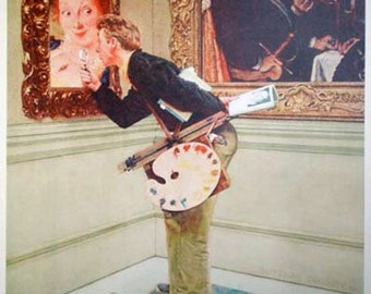 """Norman Rockwell """"The Critic"""" - Limited Collotype - Retail 350.00 - Buy/Sell/Trade"""