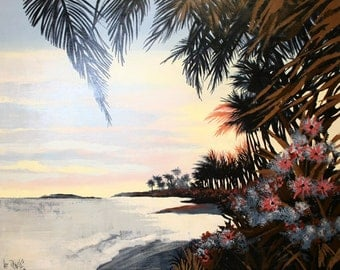 """Lee Reynolds """"On An Island"""" - Original Oil/Canvas  - Retail 5,000 - COA - See Live at GallArt - Buy/Sell/Trade"""