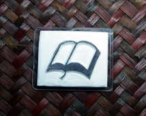 Rubber Stamp, Hand Carved Hand Made Book Stamp, Scrapbooking, Card Making, Gift Wrapping