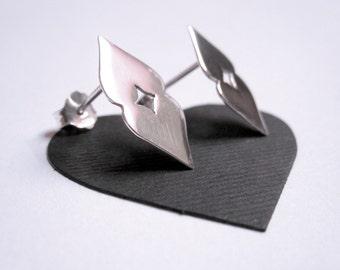 Handmade Love Me Two Times earrings. Love earrings. Heart earrings.