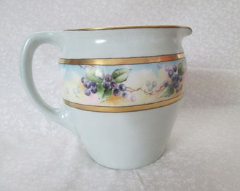 Jean Pouyat Limoges Pitcher Signed by Artist F. Boone Circa 1890-1932