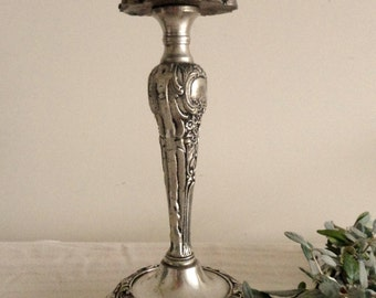 Stainless Steel Floral Embossed Candle Holder Made in India Home Decor