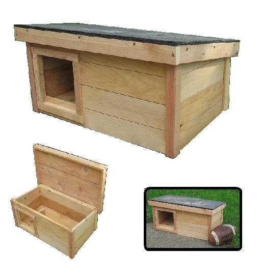 Outdoor Cat Shelter Plans Cedar wooden outdoor cat house