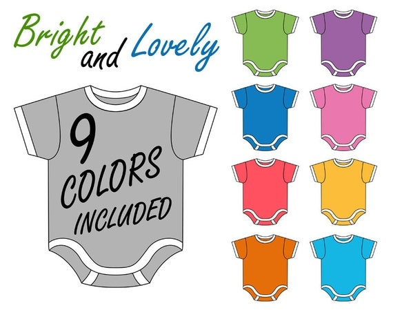 Baby Onesie Clip Art Set Digital Clip Art Baby by YarkoDesign