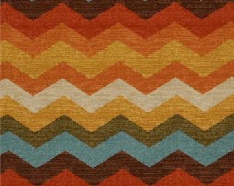 SALE - Ships Same Day  Waverly Panama Wave Adobe- 676110 - Fabric by the 1/2 yard - Zig zag Chevron