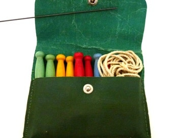 Vintage Travel Kit with Tiny Clothespins and String