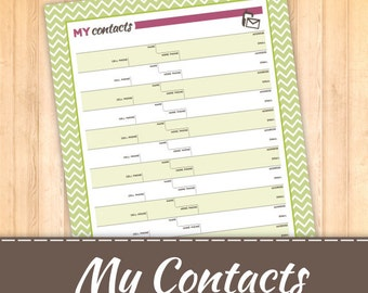 My contacts- Contact List
