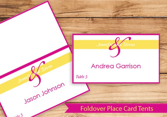 place card tent download instantly editable text together