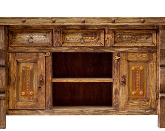 TV Console / Rustic TV Console / Media Console / Media Center -  handcrafted rustic furniture