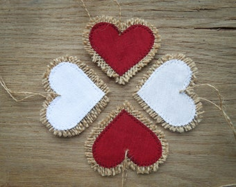 Burlap Heart Valentines Day Decor Valentines Decor Valentines Gift Wedding Favor Valentine Bridal Shower Favor Heart Decor Wedding Decor