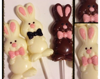 Easter bunny lollipops - Easter Bunny Chocolate set of 12 pops