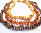 Lot of 3 Maximum Effective Raw Unpolished Baltic Amber Baby Teething Necklaces.