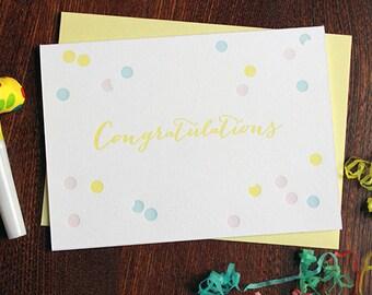 Confetti Congratulations Letterpress Card